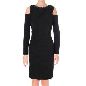 Ralph Lauren Black Cold-Shoulder Embellished